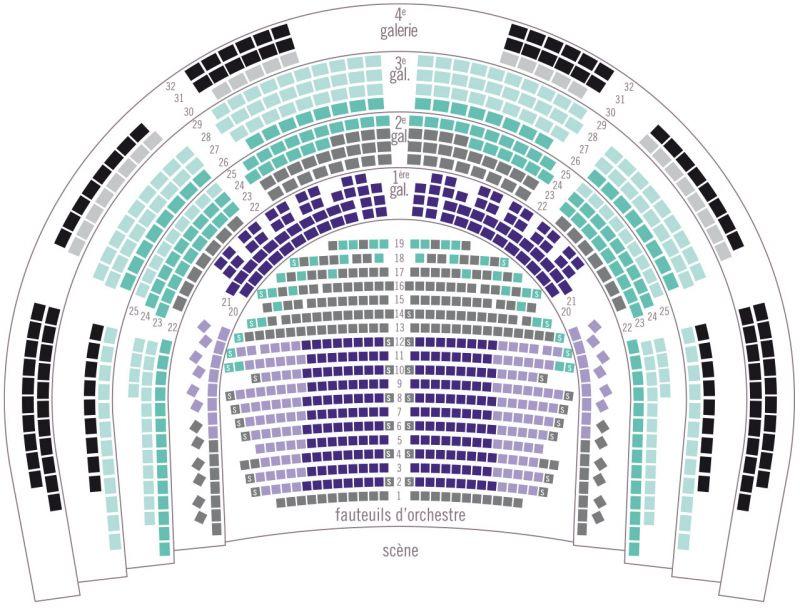 Plan de salle: Opéra